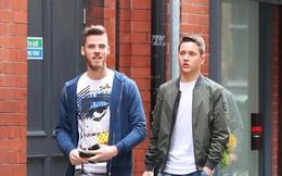 De Gea và Herrera thảnh thơi dạo phố trước Europa League