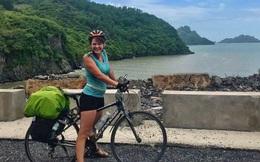 CA điều tra việc cô gái nước ngoài đạp xe xuyên Việt bị mất xe tại TP HCM