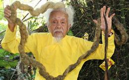 Lạ lùng mái tóc cụ ông hơn 70 năm chưa cắt