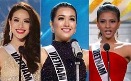 """Mỹ nhân Việt nào """"chào sân"""" ấn tượng nhất tại đấu trường Hoa hậu Hoàn vũ?"""