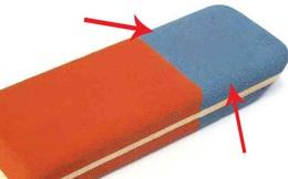 Dùng cả đời rồi nhưng bạn có biết phần màu xanh của cục tẩy dùng để làm gì không?