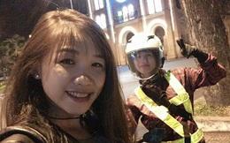 Hai cô gái chạy xe máy từ Nam ra Bắc trong 40 giờ
