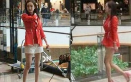 """Mặc tin đồn bầu bì, Dương Mịch vẫn đi giày """"siêu cao gót"""", mặc quần ngắn khoe chân dài gợi cảm"""