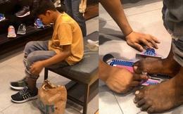 Cổ tích có thật: Cậu bé nghèo đi chân đất được người lạ mua tặng đôi giày hiệu