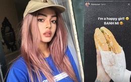 Lily Maymac hào hứng khoe ảnh được ăn bánh mỳ Việt Nam