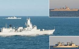 Tàu Trung Quốc bị chiến hạm phương Tây theo dõi khi tập trận cùng Nga