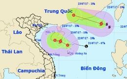 Dự báo thời tiết 23/7: Áp thấp nguy cơ thành bão