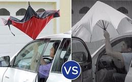 Người ta vừa phát minh lại cái ô theo cách bạn chưa bao giờ nghĩ tới: mở ngược