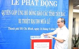 Thành ủy TP HCM quyên góp giúp đồng bào phía Bắc