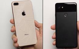 Google Pixel 2 XL và iPhone 8 Plus đọ sức trong thử nghiệm thả rơi