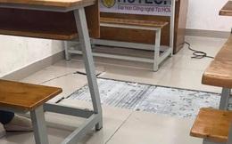"""Sinh viên HUTECH tháo chạy khi nền gạch rung lắc và bong tróc, nhà trường lên tiếng: """"Có thể do nhiệt độ trong phòng thay đổi"""""""