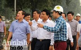 Hà Nội: Kiểm tra đột xuất việc đánh chuyển cây trên đường Phạm Văn Đồng