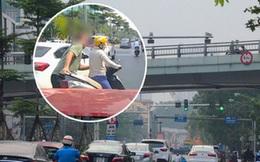 """Nhân chứng kể lại vụ ông Tây lôi """"ninja"""" và xe máy vào lề đường: Cô gái vượt đèn đỏ, bị CSGT bắt sau đó"""