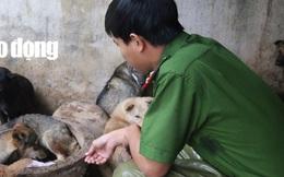 """Được cứu khỏi """"cẩu tặc"""", 2 chú cún chào đời tại trụ sở công an"""
