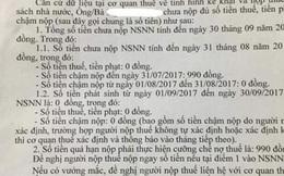 Một người dân ở TPHCM bị cưỡng chế nợ thuế… 990 đồng