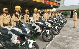 Dàn xe đặc chủng của công an Hà Nội dẫn đoàn Tổng thống Trump