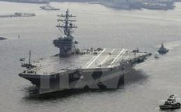 Ba tàu sân bay Mỹ rầm rộ tập trận tại vùng biển phía Đông Hàn Quốc