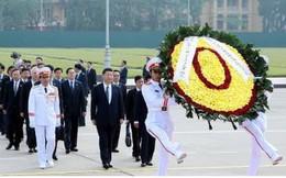 Ảnh: Chủ tịch Trung Quốc Tập Cận Bình vào Lăng viếng Chủ tịch Hồ Chí Minh