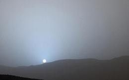 Lạ mắt hoàng hôn màu xanh trên sao Hỏa