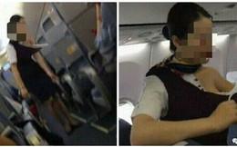 Sự thật đằng sau bức ảnh nữ nhân viên hàng không bị hành khách xé áo trên chuyến bay ở Trung Quốc