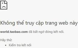 Dân buôn hàng Trung Quốc hoảng hốt vì Taobao.com bất ngờ không thể truy cập được ở Việt Nam