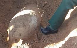 Chẻ củi trên quả bom nặng 250 kg suốt nhiều năm