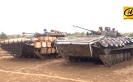 Belarus học tập Nga - Philippines gia cố xe thiết giáp bằng hòm gỗ