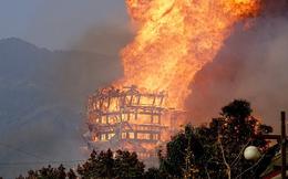 Lửa ngùn ngụt thiêu rụi tháp bằng gỗ cao nhất Châu Á