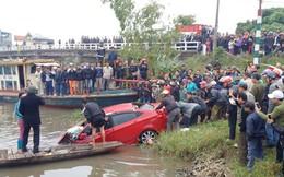 Trục vớt ô tô từ dưới sông lên, người đàn ông tử vong trong xe