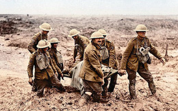 Không khí ngột ngạt trong chiến hào Thế chiến 1 qua loạt ảnh tô màu