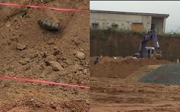 Phát hiện bom khi đào móng xây trường mầm non