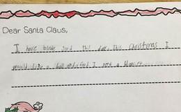 Bức thư gửi ông già Noel của bé gái lớp 1 hé lộ sự thật khiến giáo viên chết lặng