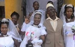 Người đàn ông hạnh phúc nhất năm, một lúc cưới hẳn 3 cô vợ