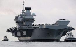 """Tàu sân bay lớn nhất của Anh """"uống"""" 200 lít nước biển/giờ"""