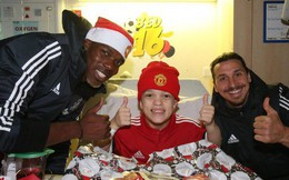 Sao Man Utd mang Giáng sinh ấm áp đến trẻ em nghèo