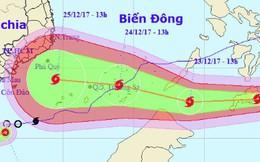 Bão Tembin mạnh cấp 10, giật cấp 13 di chuyển nhanh vào khu vực Nam Bộ dịp Giáng sinh