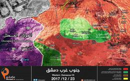 Quân đội Syria tiếp tục dội lửa xuống phiến quân gần cao nguyên Golan