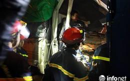 Tai nạn đường Vành đai 3 trên cao, 2 người bị mắc kẹt trong cabin