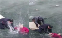 Người hùng của năm: Tay không phá băng cứu bà cụ suýt chết đuối