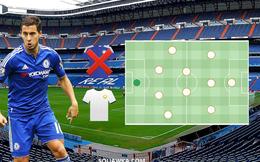 Đội hình 'vô đối' của Real Madrid khi có Hazard và Harry Kane