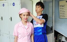 Hồ Việt Trung quấn quýt bạn gái hot girl 9X tại phim trường