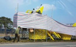 Hải Phòng chỉ đạo tháo gỡ hoa vàng trên hình con rồng gây tranh cãi ở đường Lê Hồng Phong