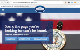 Thông tin về biến đổi khí hậu, quyền của người đồng tính biến mất khỏi website Nhà Trắng