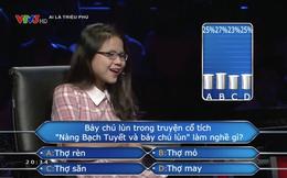 """Ai là triệu phú tiếp tục """"làm khó"""" người chơi với câu: Bảy chú lùn làm nghề gì?"""