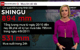 Siêu bão Lan ở Nhật gây lượng mưa cao gần gấp đôi siêu bão Irma ở Mỹ