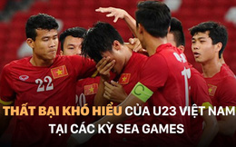 """6 """"cú ngã"""" khó hiểu của U23 Việt Nam tại đấu trường SEA Games"""