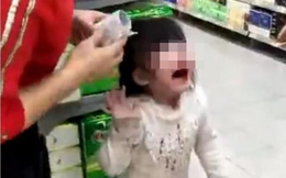 Trung Quốc: Ông tát cháu gái chảy máu mũi vì không chịu đi thang cuốn trong siêu thị