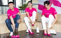 Lần đầu tiên Rocker Nguyễn mặc áo hồng, mang giày cao gót