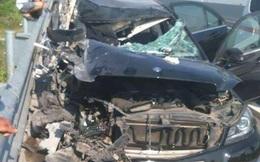 Tai nạn nghiêm trọng trên cao tốc Hà Nội - Hải Phòng, 2 người trên ô tô Mercedes tử vong
