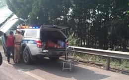 CSGT bị xe máy đâm nguy kịch khi làm nhiệm vụ trên cao tốc Hà Nội - Thái Nguyên